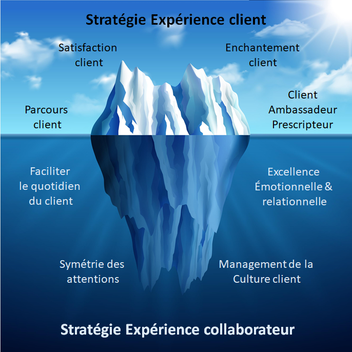 iceberg expérience client