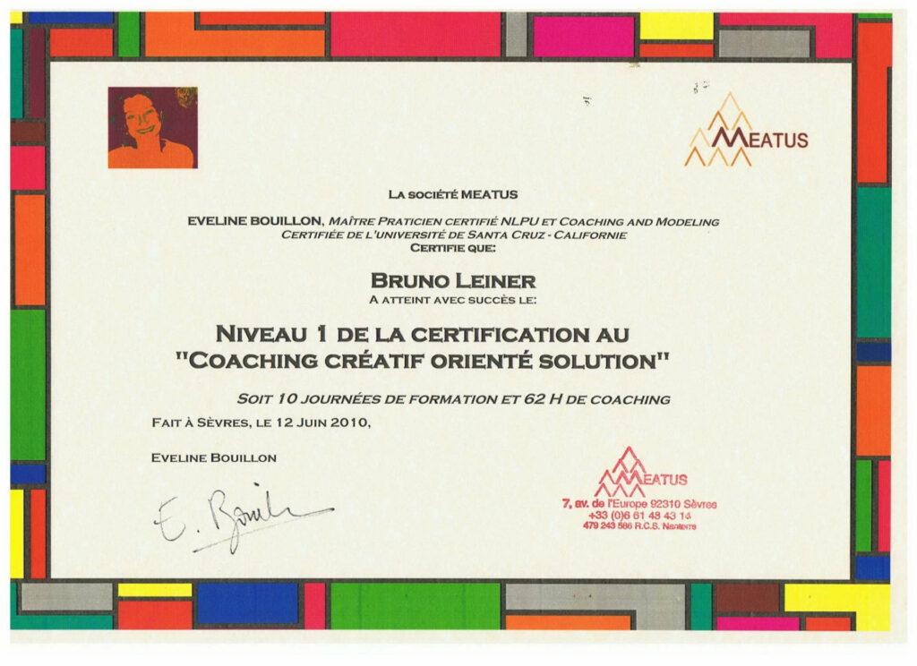 certificat coaching