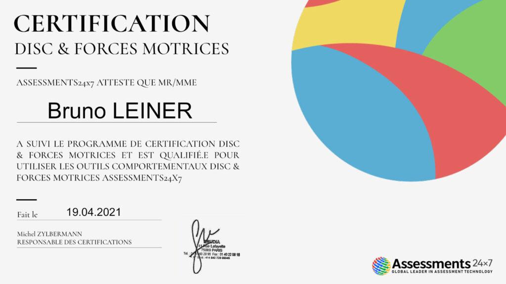 certificat disc