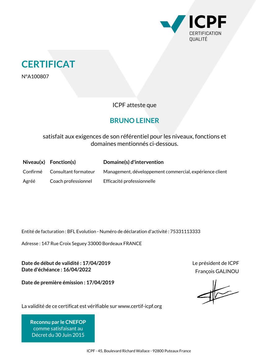 Certification CNEFOP
